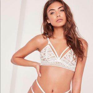 Missguided Lingerie Organza strappy triangle bra